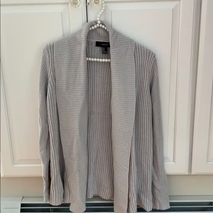 Forever 21 Light Gray Cardigan s small
